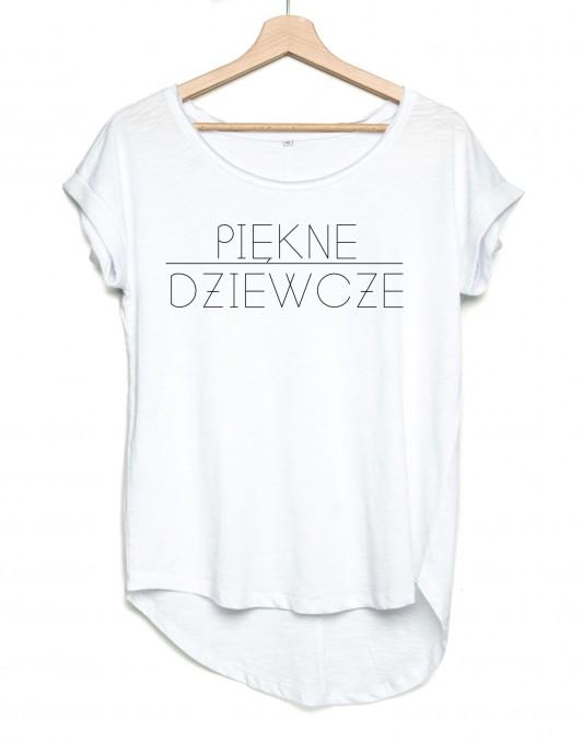 Koszulka asymetryczna PIĘKNE DZIEWCZE