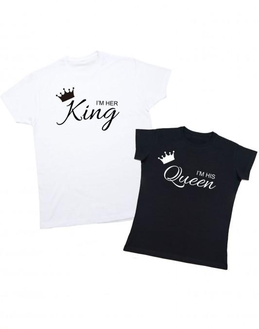 Koszulki dla par I'M HER KING/I'M HIS QUEEN