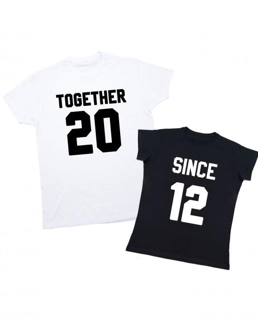Koszulki dla par TOGETHER SINCE